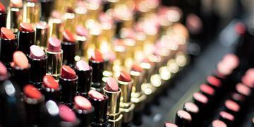 Lipstick in a rack